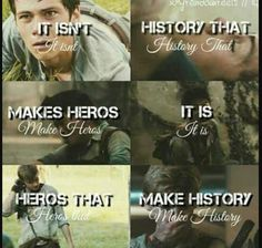 Thomas,Newt and Minho Maze Runner Quotes, Maze Runner Funny, Maze Runner Trilogy, Maze Runner Thomas, Maze Runner Cast, Maze Runner Movie, Maze Runner Series, Book Memes, Book Quotes