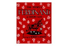 The Story of Ferdinand     By Munro Leaf, drawings by Robert Lawson                  When Ferdinand, a big and strong bull who has a peaceable and gentle nature, is stung by a bumblebee and reacts by puffing, snorting and pawing the ground, people think he is a ferocious bull just right for the bull fights but soon learn they are mistaken.    Viking Press, 1936. ISBN: 9780670674244