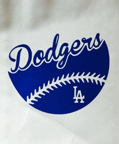 LA Dodgers Baseball Vinyl Decal - Car Window / Bumper Sticker - Computer Decal - LA Dodgers baseball decal with logo. Available in black, blue, gray, pink and white. Dodgers Baseball, Cheap Baseball Jerseys, Dodgers Shirts, Dodgers Gear, Dodgers Nation, Let's Go Dodgers, Baseball Shirts, Dodgers Party, Mlb