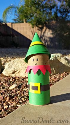 Santa's Christmas Elf Toilet Paper Roll Craft For Kids