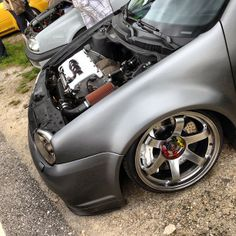 VW Jetta. stance grey gunmetal wheels