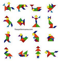 legepuzzle druckvorlage tiere | tangram legespiel | legespiele, spiele und logikspiele