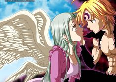 Meliodas and Elisabeth Seven Deadly Sins Anime, Elizabeth Seven Deadly Sins, 7 Deadly Sins, Anime Angel, Meliodas And Elizabeth, Elizabeth Liones, Otaku Anime, Anime Naruto, Anime Love