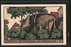 Steindruck-AK-Stralsund-Alte-Stadtmauer-am-Knieperwall.jpg (616×409)