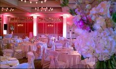 Barton Creek Resort Wedding. Pink lighting. Pinspotting.