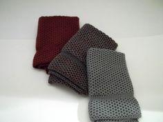 Dishcloths Knit in Cotton in Angel, Chestnut, Angel/Chestnut/Lt. Dusty Teal, Washcloths, Knit washcloths, Cotton Dishcloths, Dishcloth