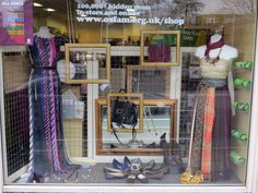 Bling and buy window display for Oxfam. Created by Jo Danan