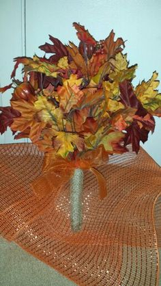 Fall wedding Bride bouquet hand made