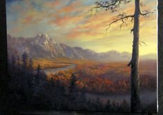 Bob Ross helps a timid little stream find its way to a delightful waterfall, while gazing upon a forest of elegant trees. Season 7 of The Joy of Painting wit. Oil Painting Lessons, Painting Videos, Painting Techniques, Kevin Hill Paintings, Bob Ross Paintings, Landscape Art, Landscape Paintings, Tuscany Landscape, Sunset Landscape