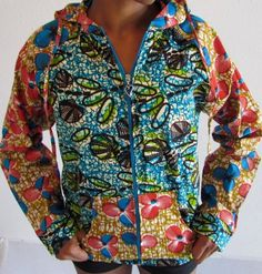 African Print Mix Summer Hoodie by ifenkili on Etsy, $40.00