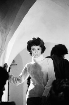 Audrey Hepburn on the set of the film Bloodline, Sardinia, Italy, 1978. Photographs by David Hurn.