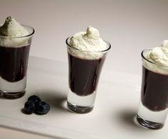 Molecular Gastronomy - Blueberry Verrines #dessert #fruit #gelification