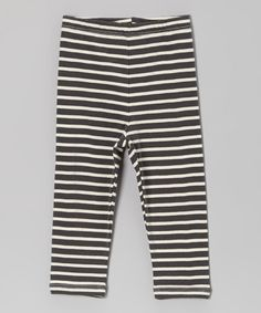Take a look at this Charcoal Stripe Organic Pants - Infant by LAPSAKY Organics on #zulily today!