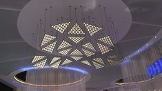 Living Sculpture kinetic light installation with DMX winches and motoriz...