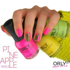 Let your nails steal the show with fresh and juicy fruit nail art designs. Move on and on to find the best of the best from these 57 truly unique ideas! Pineapple Nails, Fruit Nail Art, Cute Fruit, Juicy Fruit, Pineapple Pattern, Nail Tutorials, You Nailed It, Nail Art Designs, Projects To Try