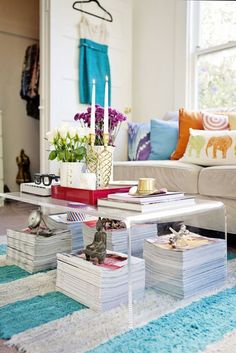 See more images from 15 reasons to have a clear coffee table on domino.com