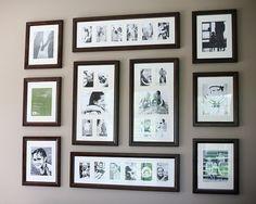 Gallery Wall... and great photo organizing tips from ABowlFullOfLemons.blogspot.com