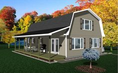 Barn Living Pole Quarter With Metal Buildings | Gambrel Barn Plans – Available For Immediate Download | Loft Barn