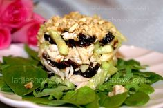 Preparation: Cook the chicken fillet. (cool in the broth) Prunes soaked in 1 tbsp hot chicken stock Cucumbers clear from the skin and cut into strips. Nuts (walnuts) coarsely chopped. Chilled fillets cut into strips. Drain the prunes, chop, like chicken.