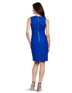 $107 Calvin Klein Women's Zipper Shift Dress, Cobalt, 6From Calvin Klein $107
