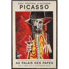 Picasso Festival D'Avignon 1970 Art Exhibit Poster