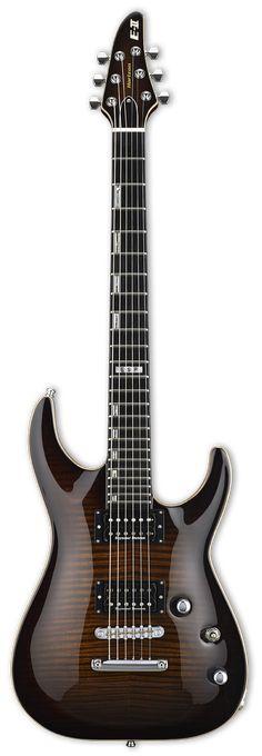 ESP E-II Horizon FMNT Dark Brown Sunburst Electric Guitar