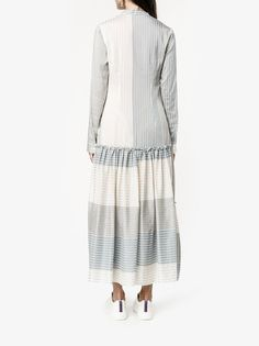 Shop Stella McCartney striped long sleeve dress from our Day Dresses collection. Hijab Fashion, Fashion Dresses, Maxi Robes, Chic Dress, Day Dresses, Dress Collection, Stella Mccartney, Knitwear, Wrap Dress