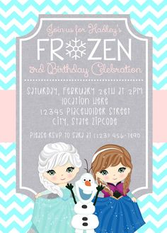Frozen Invite  Frozen Birthday Invitation  Elsa by CreativeKittle