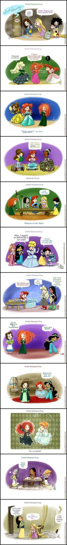 Pocket Princesses (Part 3) by Amy Mebberson STITCH. GUYS STITCH MAKES WHATEVER WAS ALREADY BEAUTIFUL JUST FABULOUS: