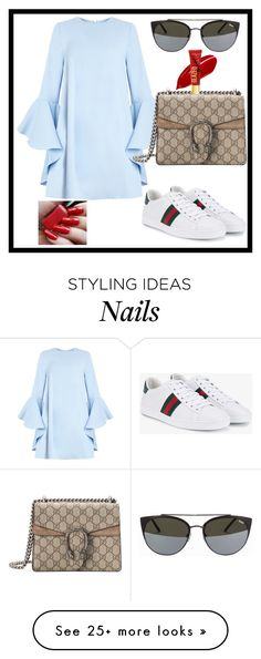 """""""Sunday Afternoon chill with the Girls"""" by aagyekumwaa on Polyvore featuring Gucci and Quay"""