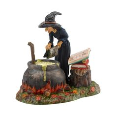 Fire Burn & Cauldron Bubble Witch Figurine