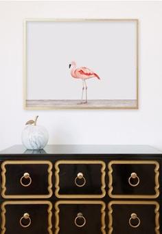 dorothy draper dresser flamingo print