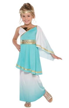 Girls Venus Roman Greek Goddess Athena Toga Fancy Dress Costume Book Day Outfit Years 997013 for sale online Toga Fancy Dress, Goddess Fancy Dress, Fancy Dress Costumes Kids, Girl Costumes, The Dress, Greek Costumes, Costume Ideas, Childrens Fancy Dress, Fancy Dress For Kids