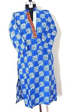 Women Boho Dress Indian Pakistani Designer Kurti Fashion Long Tunic SZ_XL S22O