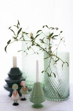 kähler avvento porzellankerzenhalter und bungalow glaslicht + vase