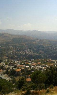 """General view of Ehden from the shrine of Our Lady El Hosn, North Governorate, Lebanon منظر عام لبلدة اهدن من مزار سيدة الحصن، محافظة الشمال، لبنان The mountain town is located 1,500 metres (4,900 ft) above sea level, 110 kilometers (68 mi) from Beirut and 39 kilometres (24 mi) from Tripoli, Lebanon. Ehden is a famous summer resort and touristic center, often called """"the Bride of Summer Resorts in the North"""