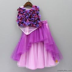 Pre Order: Flowery Pink And Purple Ghagra Frocks For Girls, Dresses Kids Girl, Kids Outfits, Baby Dresses, Kids Indian Wear, Kids Ethnic Wear, Kids Frocks Design, Baby Frocks Designs, Baby Dress Design