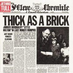 Jethro Tull Thick As A Brick LP Vinil 180 Gramas (Steven Wilson Mix) Chrysalis Records Warner 2015 EU - Vinyl Gourmet