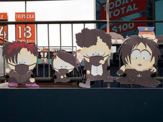 1,800 South Park Cut-Outs Spread Across Five Sections at Broncos Game During the COVID-19 Pandemic Denver Broncos Game, Go Broncos, South Park Characters, Comedy Central, Cut Outs, Charity, Games, Anime, Gaming