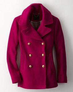 nice coat, pretty color