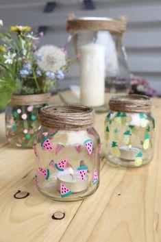 Glass Bottle Crafts, Diy Bottle, Bottle Art, Upcycled Crafts, Fun Diy Crafts, Paper Crafts, Decoration Crafts, Garden Decorations, Room Decorations