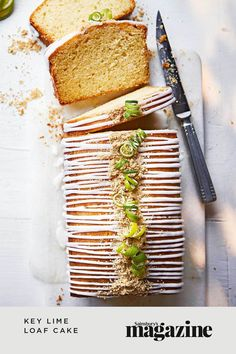 Inspired by the American classic Key lime pie, this sweet-but-tangy bake features regular limes, condensed milk and a crunchy biscuit crumb topping – divine! Get the Sainsbury's Magazine recipe Digestive Biscuits, Loaf Cake, Sainsburys, Food Trends, Cookies Ingredients, Party Desserts, Key Lime, Recipe Collection, Cake Recipes