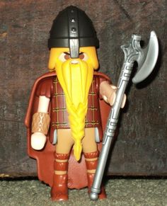 Playmobil Saxon. This is a custom made figure that I made. You can see more at http://warhorseminiatures.wordpress.com/