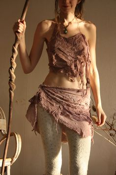 Purple haze, faery festival burning man clothing, tattered fairy elven outfit MADE to ORDER