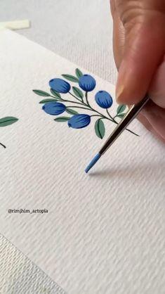 Art Drawings Sketches Simple, Diy Canvas Art, Art Tutorials, Diy Art, Art Lessons, Flower Art, Watercolor Art, Kawaii Stationery, Gouache