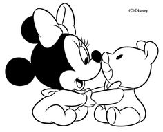 Bebes Disney para Colorir