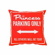 Princess Parking Only Small Rosso by Carillon design