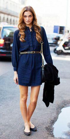 Vestidos jeans são aposta das coleções de verão, mas dá para usar? Gloria Kalil responde e indica como | Chic - Gloria Kalil: Moda, Beleza, Cultura e Comportamento