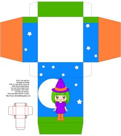 Don't Eat the Paste: Cute Witch Box and Coloring Pages