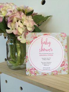 Amanda Jones, June 4th, Floral Invitation, Baby Shower Invitations, Table Decorations, Digital, Unique Jewelry, Handmade Gifts, Etsy